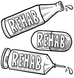 Drugs and alcohol rehab vector image vector image