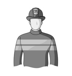 Firefighterprofessions single icon in monochrome vector