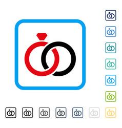 gem rings framed icon vector image