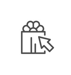 gift choice line icon vector image