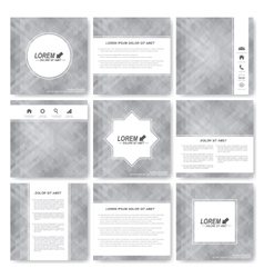 Gray set templates for square brochure vector