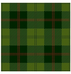 Green tartan cloth design vector