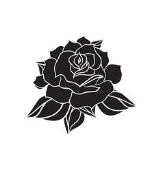 Hand Drawn Wedding Rose vector image vector image