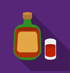 Herbal liqueur icon in flat style isolated on vector