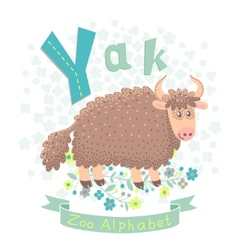 Letter Y - Yak vector image