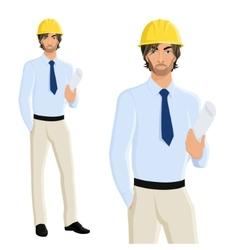 Man engineer portrait vector