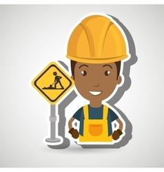 Man worker construction vector