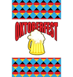 Mug of beer for oktoberfest character beer vector