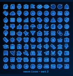 Neon line icon - set 2 vector