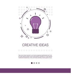 New creative idea innovation banner with copy vector