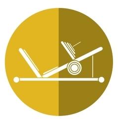 Press legs sport machine gym design shadow vector