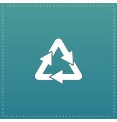 Recycle sign isolated on background vector image vector image