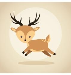 Reindeer cartoon icon woodland animal vector