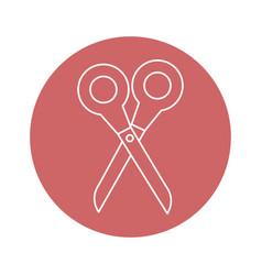 Scissor utensil icon vector