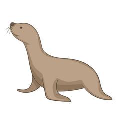 seal animal icon cartoon style vector image