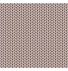 Seamless knitted pattern vector