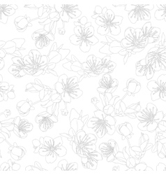 seamless pattern with flowers of sakura vector image