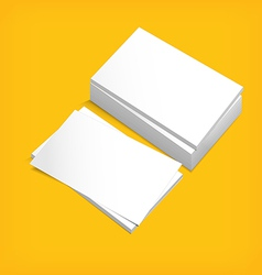 Stack of white paper vector image