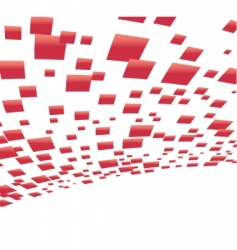 vector background with red squares vector image vector image