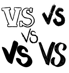 Versus letters symbol competition vs vector