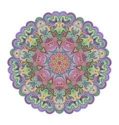 Vivid colored mandala for your design vector