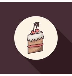Cake of bakery food design vector