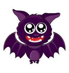 Cute smiling bat for halloween vector
