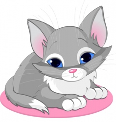 Sitting kitten vector