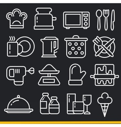 lines icons pack collection kitchen vector image
