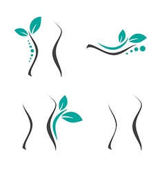 Woman surgery and chiropractic logo vector