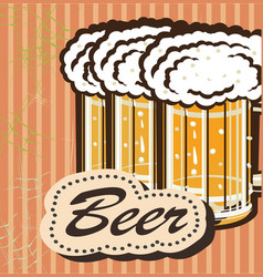 Banners on topic with beer vector