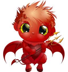 handsome little devil vector image