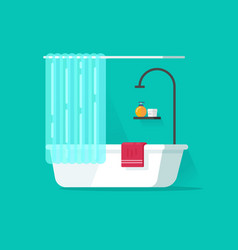 Bathroom empty flat cartoon vector
