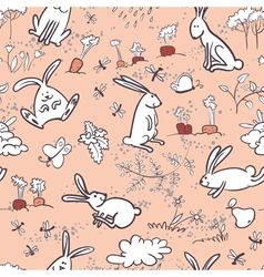 Background with bunnies vector
