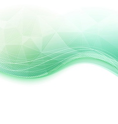 Bright wave crystal green background vector