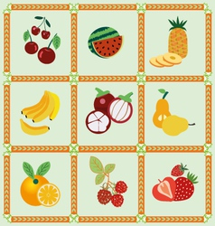 Fruit icons - vector