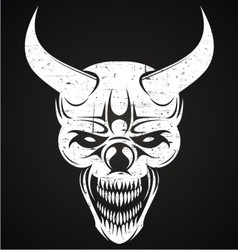 Scary demon face vector
