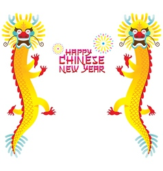 Twin chinese dragon and chinese new year vector