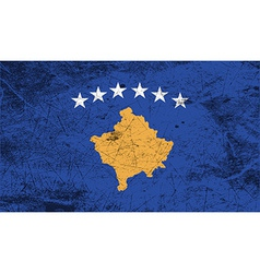 Flag of kosovo with old texture vector