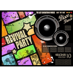 Retro disco party vector
