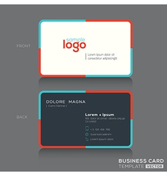 Modern simple business card design template vector