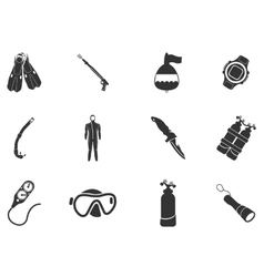 Equipment for diving vector