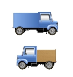 Cartoon lorries isolated on white vector