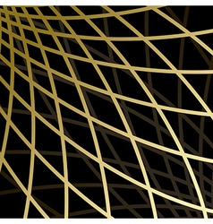 Black background with gold grid vector