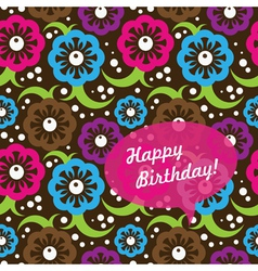 Birthday card seamless pattern vector image