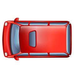 A topview of a minivan vector