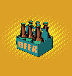 beer packaging vector image vector image