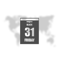 Black Friday Sale Calendar date page vector image