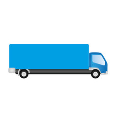 blue trucks trailer icon vector image vector image