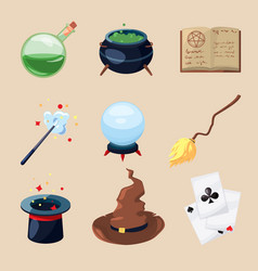 different symbols of wizards and magicians vector image vector image